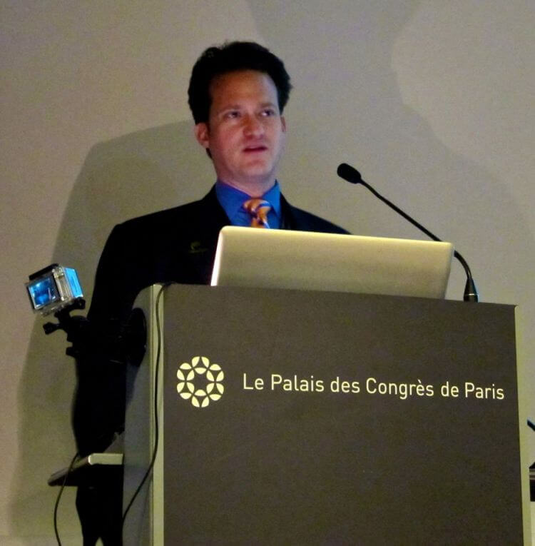 Dr Bauman speaking at the International Hair Surgery Master's Class in Paris, France