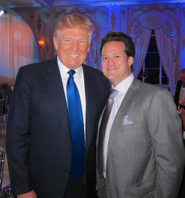 Dr Bauman with Donald Trump at Mar-a-Lago in Palm Beach, FL
