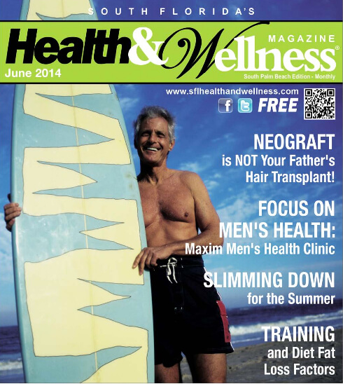 """Health & Wellness Magazine: """"NEOGRAFT is NOT Your Father's Hair Transplant!"""" written by Dr. Bauman"""