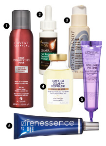 ELLE Oct p300 218x300 Elle Magazine Six Ways to Thicken and Lengthen Your Hair Article Quotes Dr Bauman