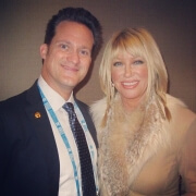 Dr. Alan J. Bauman with the Queen of Anti-Aging, Suzanne Somers in Las Vegas, NV during the A4M Medical Conference