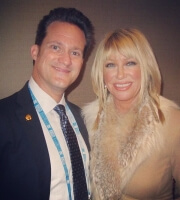 Dr Alan J Bauman With The Queen Of Anti Aging Suzanne Somers In Las Vegas Nv During A4m Medical Conference