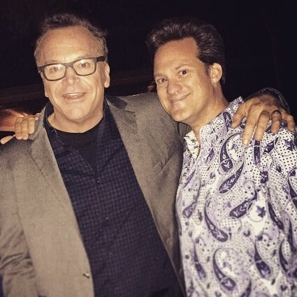 Dr. Alan J. Bauman with Actor Tom Arnold