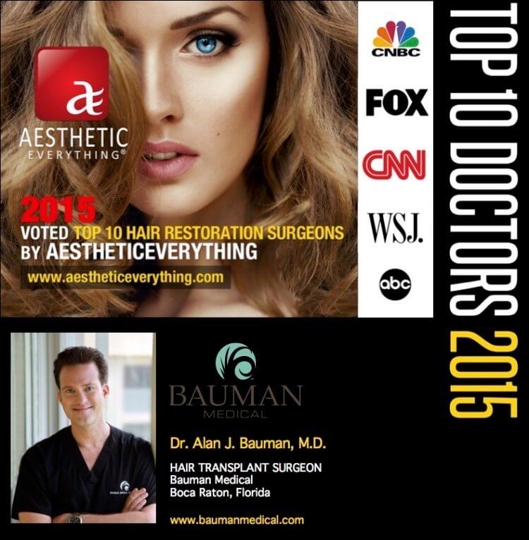 Dr. Bauman Voted Top Hair Transplant Surgeon