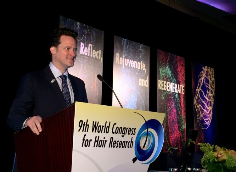 Dr Alan Bauman at #WCHR World Congress for Hair Research Miami 2015