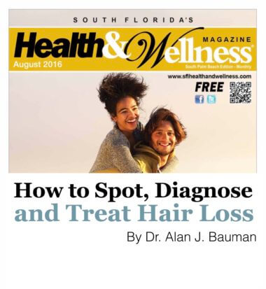 How to Spot, Diagnose and Treat Hair Loss