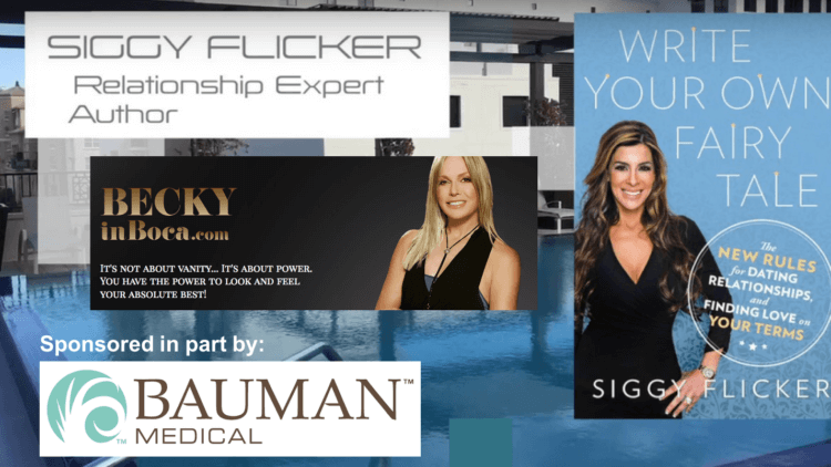 BeckyInBoca w Siggy Flicker + DrAlanBauman VIP Event Photos 1.19.17