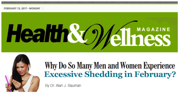 Why do so many men and women experience excessive shedding in February?