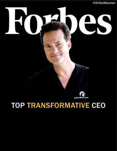 PRESS RELEASE: Dr Bauman Named a Top Transformative CEO in Forbes