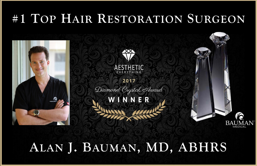top hair surgeon bm com.001 no footer PRESS RELEASE: Dr. Alan Bauman Receives Americas #1 Top Hair Restoration Surgeon Award From Aesthetic Everything