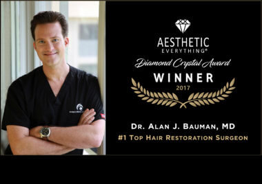 PRESS RELEASE: Dr. Alan Bauman Receives America's #1 Top Hair Restoration Surgeon Award From Aesthetic Everything