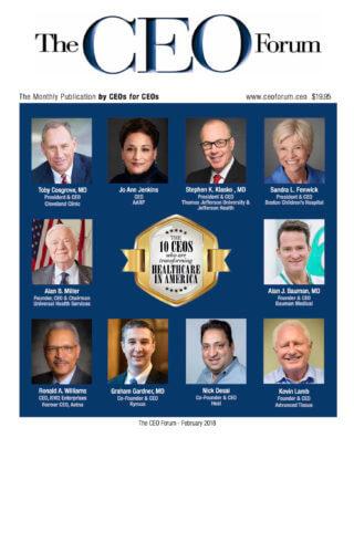 PRESS RELEASE: The CEO Forum Selects Dr. Alan Bauman as Top 10 CEO Transforming Healthcare