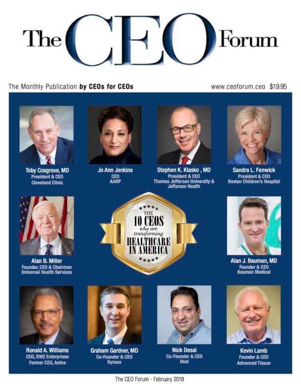 ceo forum dr alan bauman top10 healthcare 616x800 PRESS RELEASE: The CEO Forum Selects Dr. Alan Bauman as Top 10 CEO Transforming Healthcare