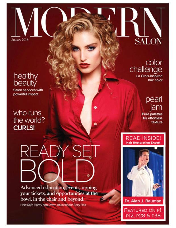 ARTICLE: MODERN SALON features Hair Restoration Surgeon Dr. Alan Bauman MD