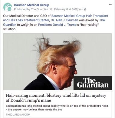 President Trump's Hair vs. Wind, Dr. Alan Bauman is Asked to Weigh in
