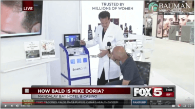 VIDEO: SmartGraft FUE Hair Transplant w/ Dr Alan Bauman on Fox5 News