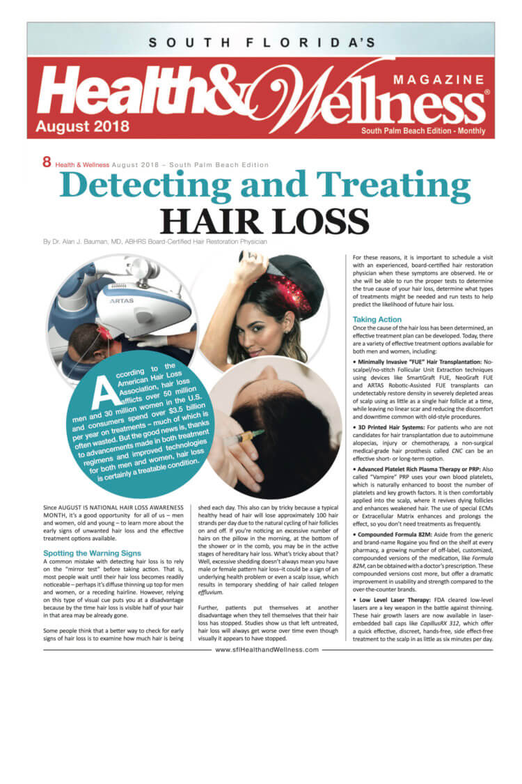 ARTICLE: How To Detect and Treat Hair Loss
