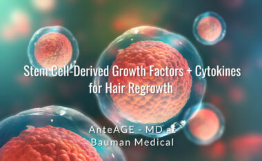 Stem Cell Derived Growth Factors Cytokines AnteAGE for Hair Growth