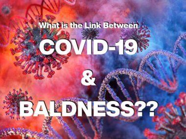 What is the relationship between Baldness, Baldness Drugs, and COVID-19?