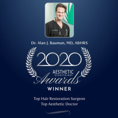 PRESS RELEASE: Dr. Alan J Bauman Named #1 Top Hair Restoration Surgeon 4th Year In A Row