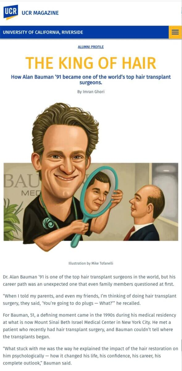 The King of Hair: How Alan Bauman Became One of the World's Top Hair Transplant Surgeons