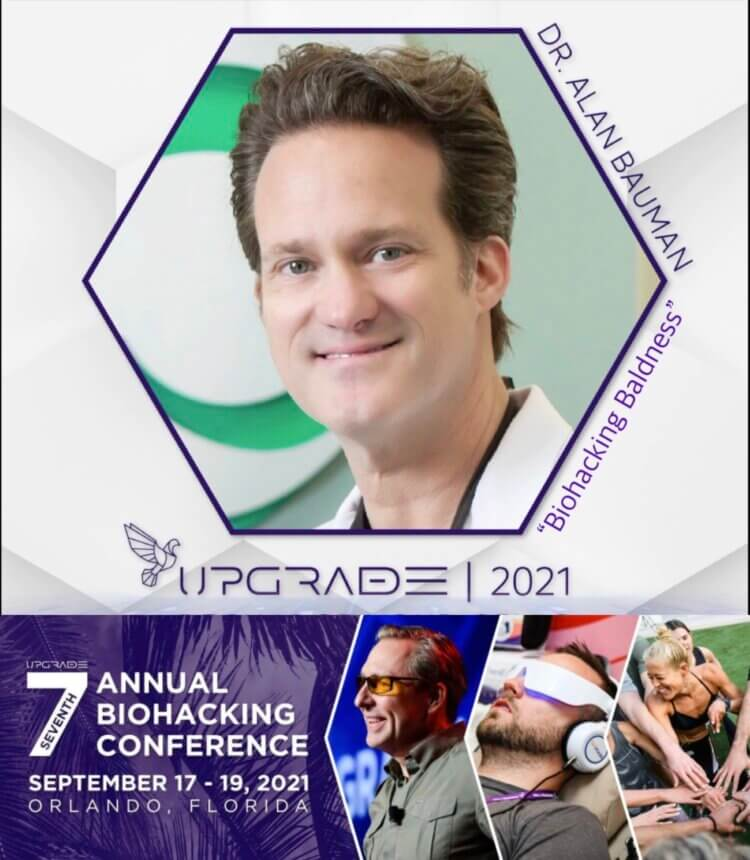 Dr Alan Bauman will be a featured speaker at the 7th Annual Biohacking Conference in Orlando